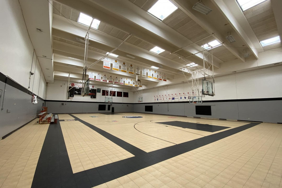 Gym (Before) | Our amazing gym! We're going to put in hardwoods, replace the backboards and pulleys, and possibly replace the scoreboard! What would be the first game you would play with our kids in this incredible gym?